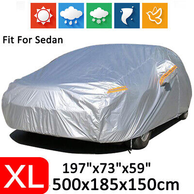 X-Large Full Sedan Car Cover Waterproof Outdoor Dust Scratch Rain UV Protection