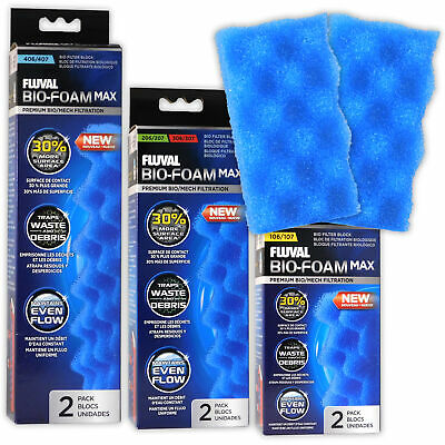 Fluval BioFoam Max Media Pads for 07 External Filters Waste Debris Aquarium Fish
