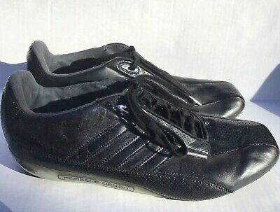 9eaa22e1b ADIDAS PORSCHE DESIGN S2 Sneakers Lace Up Leather Black Mens 9.5 ...