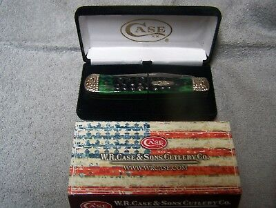 CASE XX HUNTER GREEN WORKED BOLSTERS COLLECTABLE TRAPPER Pocket Knife 53215 NEW