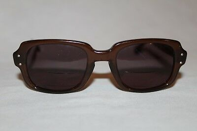 68664cc3543f Vintage Military Romco Brown Frame Issued PX Sunglasses USS 4 1/2 X 5 3