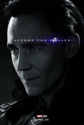 "Avengers End Game Loki Movie Poster Art Print 13x20"" 24x36"" 27x40"""