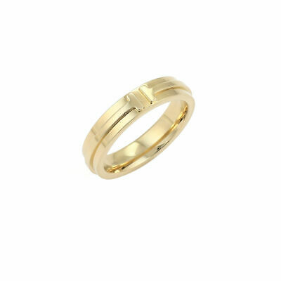8a3b5b841 TIFFANY T TWO Narrow 18k Yellow Gold 4.5mm Wide Band Ring - $950.00 ...