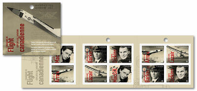 2019- Canadians in Flight: Permanent Domestic stamps - Booklet of 10 MNH