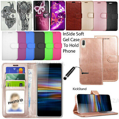 For Sony Xperia L3 L4332 L4312 Wallet Leather Case Flip Cover Book + Screen Film