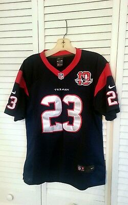 c45d55bdc3b NIKE Houston Texans Arian Foster Jersey 10th Anniversary Patch Sewn YOUTH  XXL
