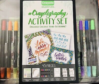 CRAYOLA Signature - Crayoligraphy Activity Set -Creative Hand Lettering-45pcs
