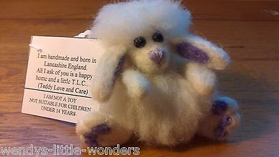 OOAK Needlefelted Fluffy Bunny Handmade By Janeal Designs 10cm Fully Jointed
