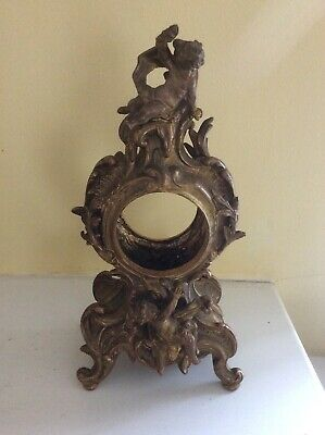 "GREAT Antique Jennings Brothers Ornate 10"" Cherub Clock Disassembled"