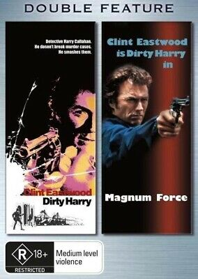 Dirty Harry / Magnum Force (DVD, 2006, 2 Discs) Clint Eastwood New Not Sealed R4