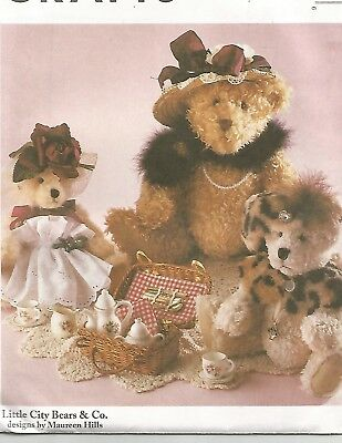 THE TEDDY BEAR Book Sew, Knit, Quilt 10 Bears Complete Instructions