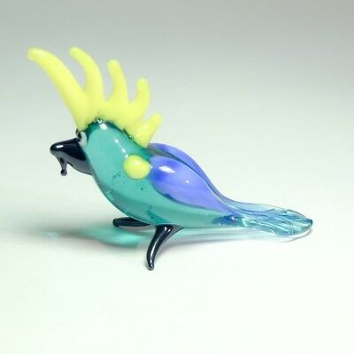 Original Blown Glass Figurine handmade Murano Ornament PARROT Miniature.