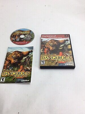 Cabela's Dangerous Hunts Greatest Hits PlayStation 2 PS2 Complete CIB Tested
