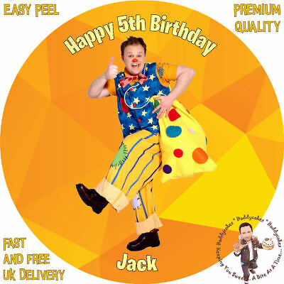 "MR TUMBLE 8"" Round Premium Icing Sheet Customised Cake Topper"