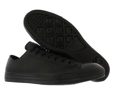cf6748c6596c CONVERSE CHUCK TAYLOR All Star II Lux Leather Low Top Black Gum Men ...