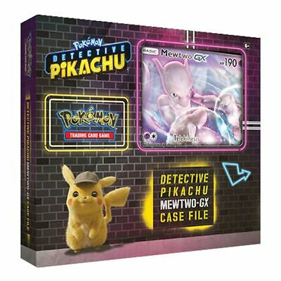 Pokemon TCG Mewtwo GX Box Detective Pikachu Special Case File 6 Packs