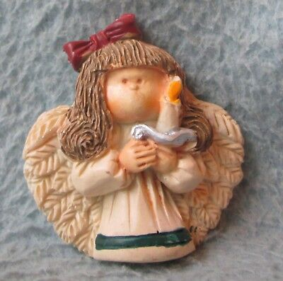 Angel Girl Holding Candle 3D Small Magnet, Souvenir, Travel, Refrigerator