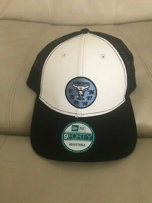 e70d78504ff4c7 NWT New Era Chicago Bulls Jordan Retro 14 Dad s Snapback Trucker Hat Blue  Black