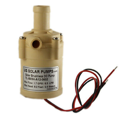 100 GPH 12V DC Pump, can withstand Temp up to 158 F and can be used Submersible