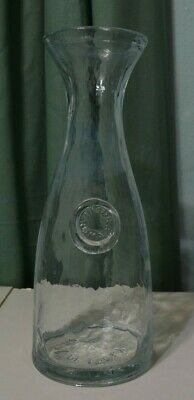 Pitcher decanter carafe jar jug clear glass Made in Italy 1 liter