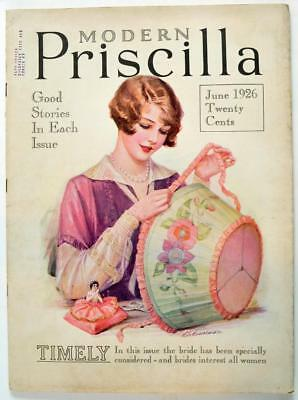 Vintage The Modern Priscilla Magazine June 1926 Antique Making Lampshade