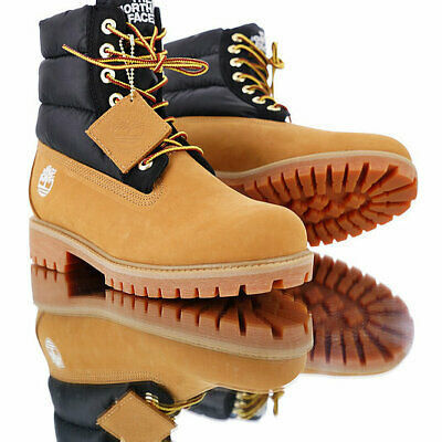 a52aa6042 TIMBERLAND X THE North Face Puffer Nuptse 700 Wheat 6 In Boot