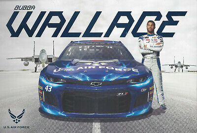"2019 Darrell Bubba Wallace ""U.s. Air Force"" #43 Nascar Monster Energy Postcard"