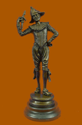 Bronze Gueyton Reproduction Sculpture Walk of the Jester Statue Marble HOT CAST