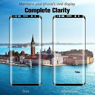 For Samsung Galaxy S8 S9 Plus Note 9/8 Case Real Tempered Glass Screen Protector