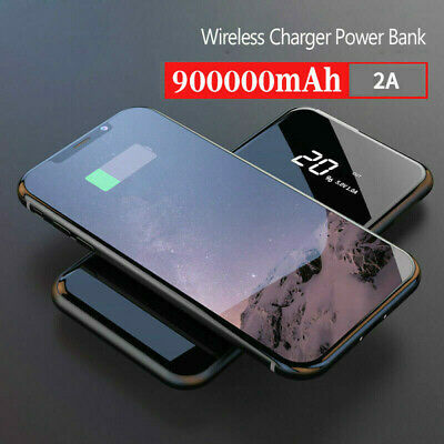 New Mobile Power Bank 500000mAh Qi Wireless & 2USB Charger External Battery Pack