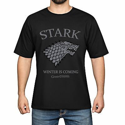 Stark House Winter Is Coming Game of Thrones T-shirt Men Short Sleeve Tee Tops