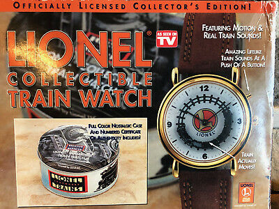 Lionel Collectible Train Wrist Watch With Motion and Sound NEW (Needs Battery)