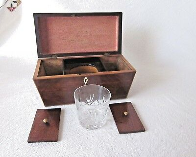 Tea Caddy in yew wood (Sheraton style)