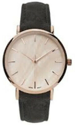 f4f299b2f Geneva Platinum Women's Stainless Steel Faux Suede Grey Leather Watch  10133GRY