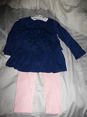 NWT First Impressions (24 MONS)  Cascade Ruffle Tunic and Leggings Set