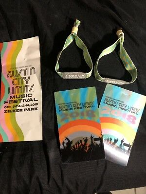 Two Wristbands For 3 Day Music Festival Row GA ($1450.00 original price)