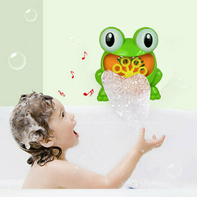 Kid Baby Bubble Tub Frog Automatic Shower Machine Blower Maker Bath ABS Toy Gift