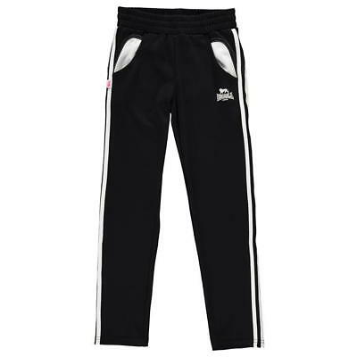 Lonsdale 2 Stripe Sweat Pants Black Age 13 Years rrp £16.99 DH082 GG 14