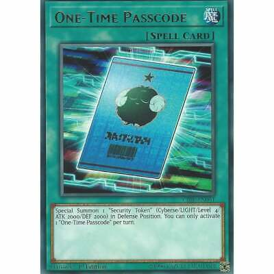 Yu-Gi-Oh! TCG: One-Time Passcode - CIBR-EN061 - Rare Card - 1st Edition - Spell