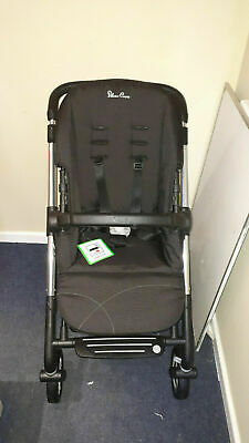 Silver Cross Pioneer pushchair and carry cot chrome/Black