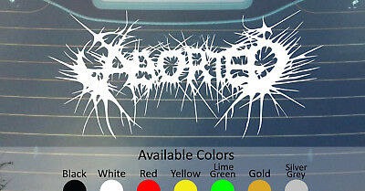 CARCASS VINYL DECAL STICKER CUSTOM SIZE//COLOR TERRORIZER IMPALED EXHUMED ABORTED
