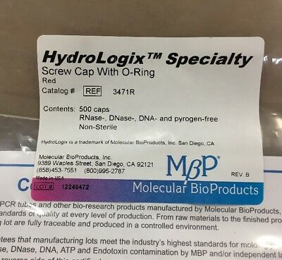 Molecular BioProducts HydroLogix Speciallty Screw Cap WithbO-ring 10 Bags