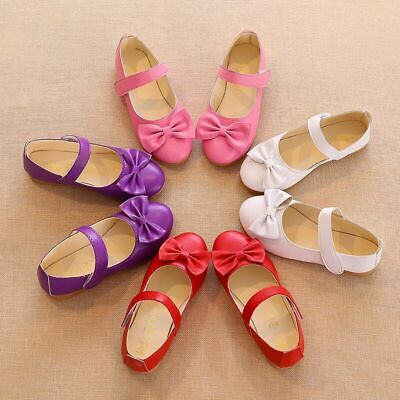 New Toddler Baby Girls Flats Princess Shoes Kids Children Party Wedding Shoes