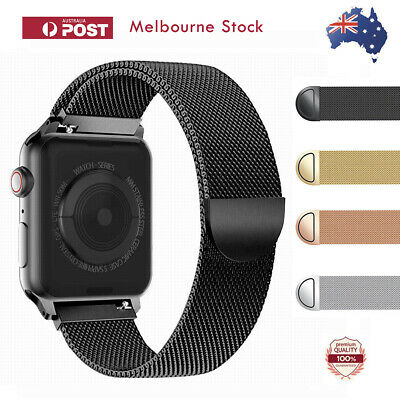 Apple Watch Series 5 4 3 2 1 Stainless Steel Milanese Strap Band 44 42mm 40 38mm