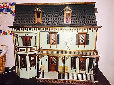 3' High Electric Lit 32 y/o Victorian Dollhouse!!!