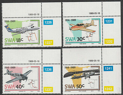 South West Africa (Namibia) 1989 Aviation Anniversary, Full Set (Mint)