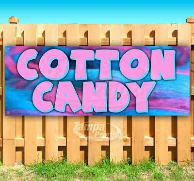 COTTON CANDY Advertising Vinyl Banner Flag Sign Many Sizes FAIR CARNIVAL FOOD