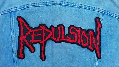 Repulsion embroidered logo back patch death metal napalm cannibal corpse carcass