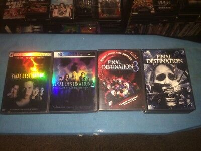 Final Destination: 4 Film Collection (DVD, 2015, 4 Disc Set)
