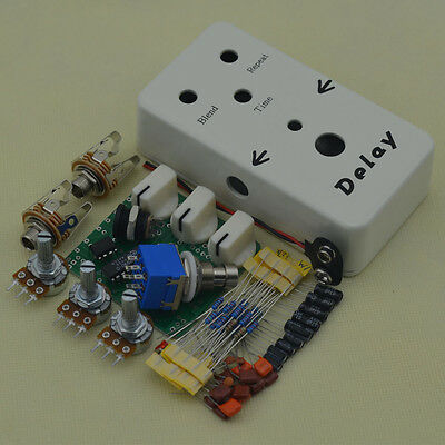 DELAY DIY GUITAR Pedal kit Wit1590BB Guitar Pedal Enclosure And